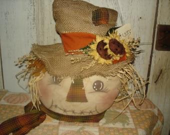 Sunny Scarecrow Table Sitter, Scarecrow, Primitive, Rustic, Fall, Autumn, Ofg, Faap, Hafair, Dub