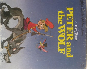 Peter and the wolf, vintage Little golden book, copyright 1946 ( 1977 printing), great condition