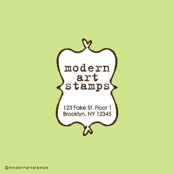 Custom Stamp - Custom Rubber Stamp - Return Address Stamp - Custom Address Stamp - Personalized Stamp - Bookplate, Frame - C355