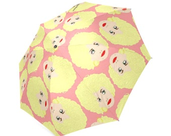 DOLLY PARTON umbrella... original illustration