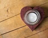 Heart Barrel Votive
