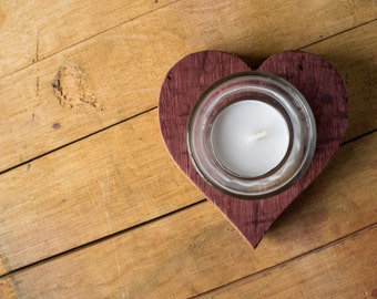 Heart Barrel Votive