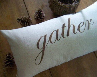 gather pillow - fall home decor - cushion - harvest - thanksgiving - autumn - holiday - natural - jennifer helene home