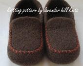 Knitting Pattern PDF - Men's Felted Wool Slippers - great DIY gift - knitting pattern using BULKY weight yarn