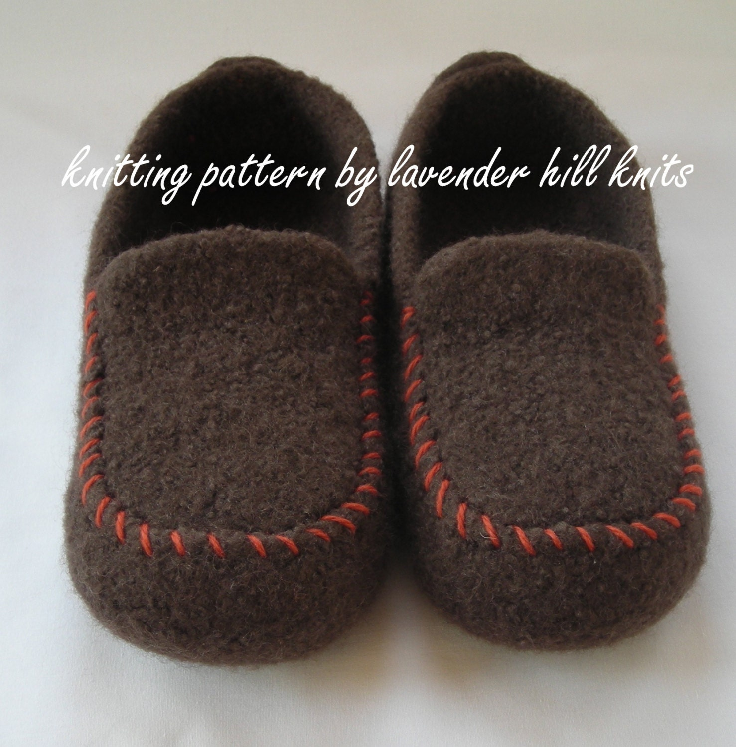 Knitting pattern pdf mens felted wool loafers mocs zoom bankloansurffo Choice Image