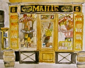 French Post Card - Print from Original Watercolor Malle