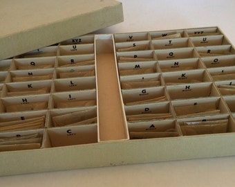 Box of Tiny Metal Letters