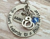 JBK My Heart Belongs to a Police Officer necklace