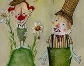 Blooming Floribunda / 8 x 10 Matted Archival Print / Springtime / Gardeners / Humorous / Reduced