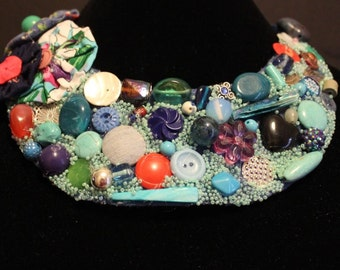 handmade bib necklace