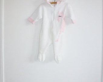 SALE // Vintage Pink and White Giraffe Sleeper