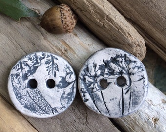 ceramic buttons 30mm ceramic herb textured buttons ceramic  Large hole button lot stone wear button porcelain fall buttons natural button