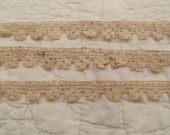 Vintage Lace Trim 40 inches x 5/8 inches wide