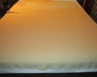 Vintage 1940s Ivory Pure Wool U.S. Military Issue Blanket