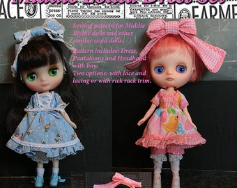 Sewing Pattern and Instructions for Middie Blythe dolls