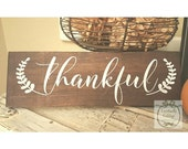 Handpainted Thankful sign