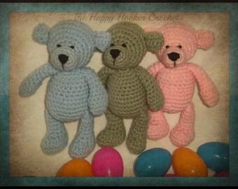 Crochet Amigurumi Teddy Bear- Made to Order- you choose the color! Stuffed animal