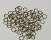 3mm Jump Rings, 200 Antique Brass Jump Rings / Bronze Open 3x0.5mm 24 Gauge 24G Link Connector Open Jump Rings O Ring