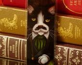 Gentleman Cat Bookmark, Rhett Butler Gone With the Wind Paper Bookmark