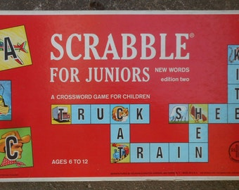Vintage Board Games (Scrabble for Juniors, Game of the States, Trust Me