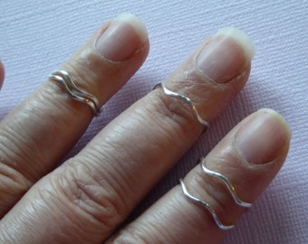 1, 925 Sterling Silver KNUCKLE Ring, Stack Ring, Midi Rings Eternity Rings, wholesale rings wedding rings sr2 c solo