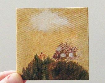 perfect pumpkin / original painting on canvas