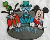 DISNEY Haunted Mansion Buggy Trio - Scrapbook Page Printed Paper Piece - SSFF