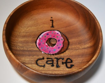 I DONUT CARE Donut Lover Dunkin' Donuts Ready Food Safe Trinket and Snack Bowl