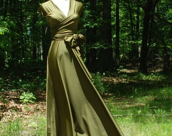 USA, Olive convertible dress, infinity dress, bridesmaids dress, maxi