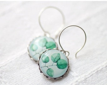 Mint Leaves earrings  (E017)