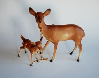 Vintage Deer with Fawn