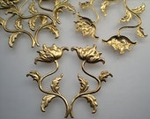 4 brass flower sprays