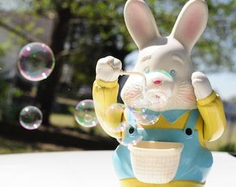 Vintage Bubble Blowing Rabbit