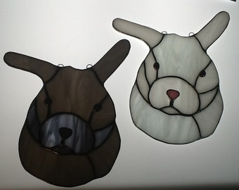 Bunny Suncatcher in Stained Glass