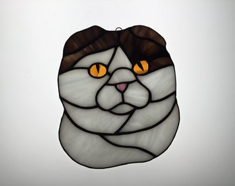 Scottish Fold Stained Glass Sun Catcher
