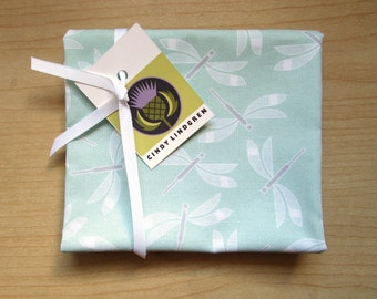 Dragonfly mint, Cotton Fabric, Fat Quarter