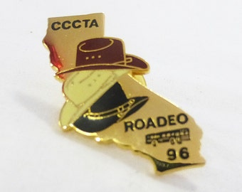 Vintage CCCTA roadeo 1996 buses competition pin transportation metro western