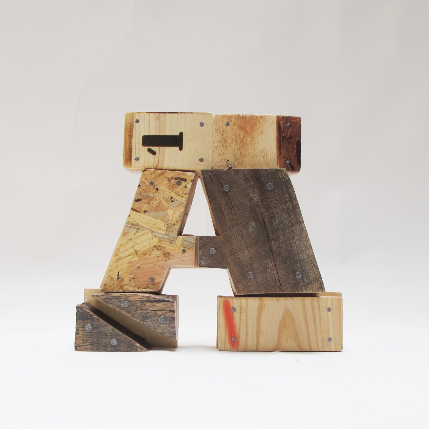 wooden letters a industrial letters wall hanging