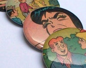 Stocking Stuffers - Pocket Mirrors - Upcycled Archie and Friends comics Recycled into 4 Pocket Mirrors