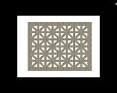 Unfinished Wood Lattice Work ,Grid, Panel 17.5 x 22 size