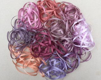 Freesia Mix - 20 metres of 3.5mm silk ribbon