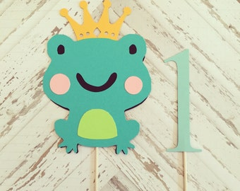 Princess Frog Cake Topper- smash cake, first birthday