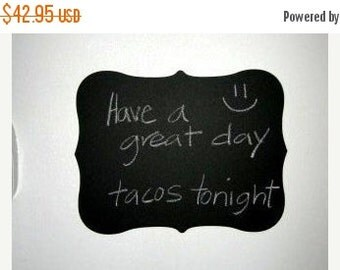 Buy 2 Get 1 FREE- Large Fancy Chalkboard Vinyl Decal, Just Peel and Stick for an Instant Chalkboard Surface