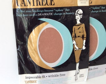 3 Pairs Vintage Cantrece Nylon Sheer Stockings New in Package