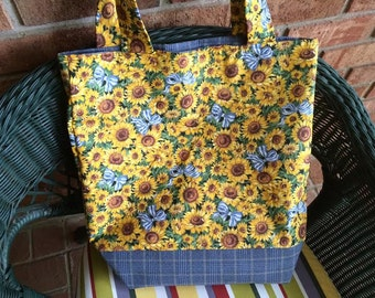 Sunflowers,  Reusable bag, Market Bag, reusable, grocery bag