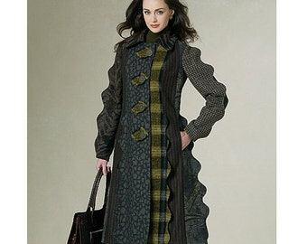 Vogue  Sewing Pattern 1213 size 6 to 12   KOOS Couture Coat- Great Design!