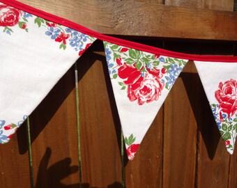 VIntage Linen Pennant Banner