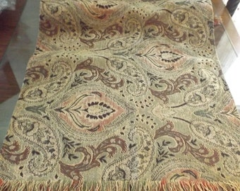 Elegant Chenille Table Runner/Shawl