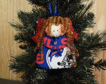 Buffalo Bills fabric angel ornament #2