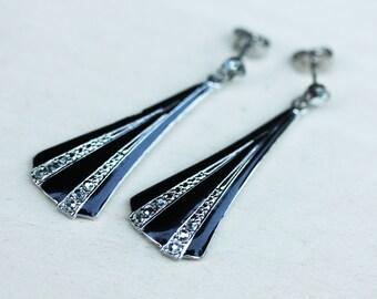 Enamel Deco Earrings